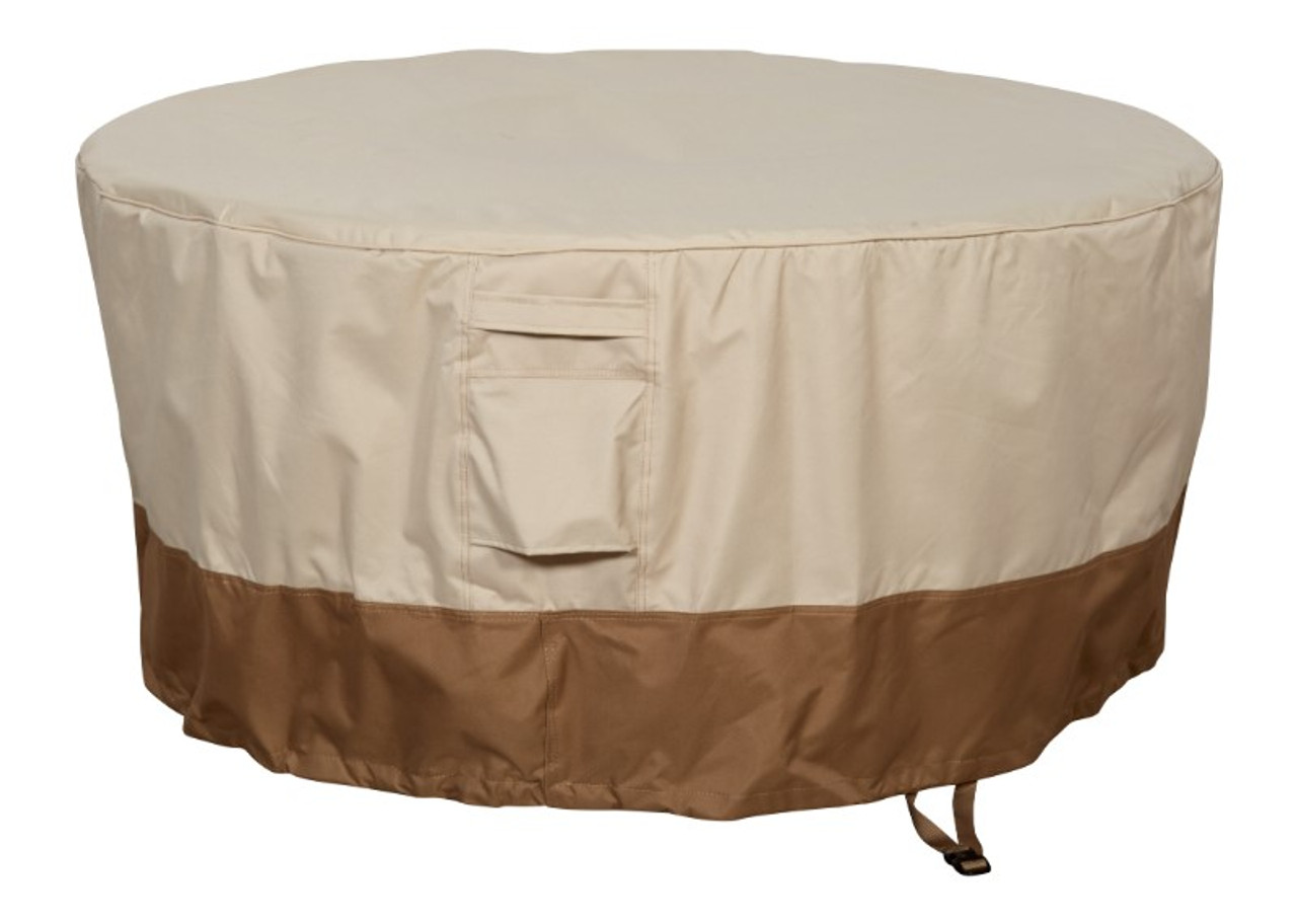 Savanna round fire table cover