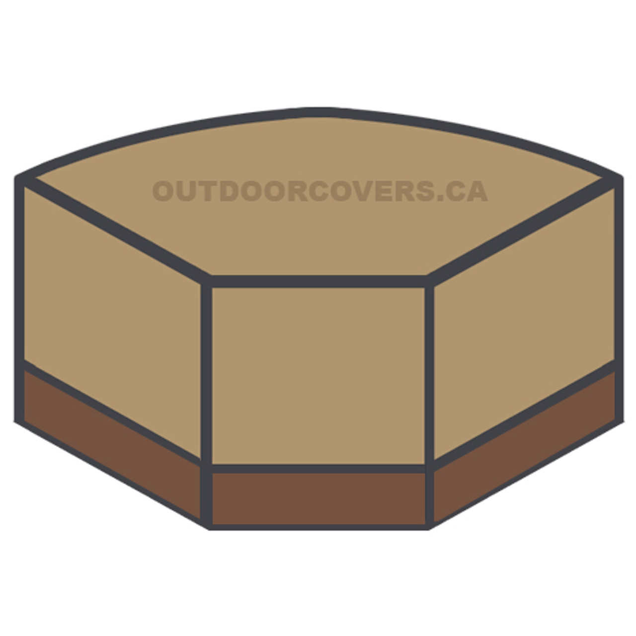 Savanna curved sectional corner cover shape