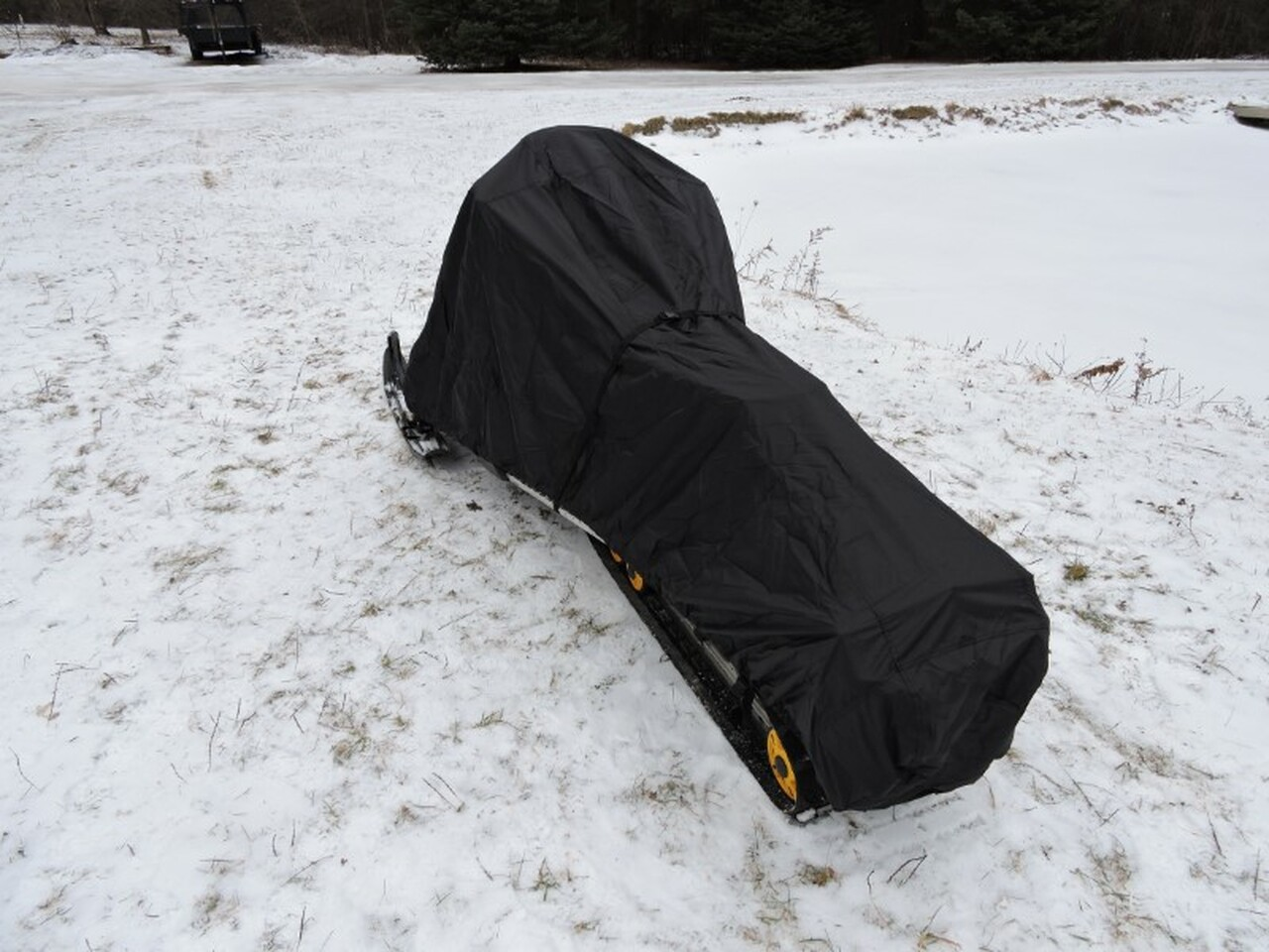 Advantage snowmobile cover rear view