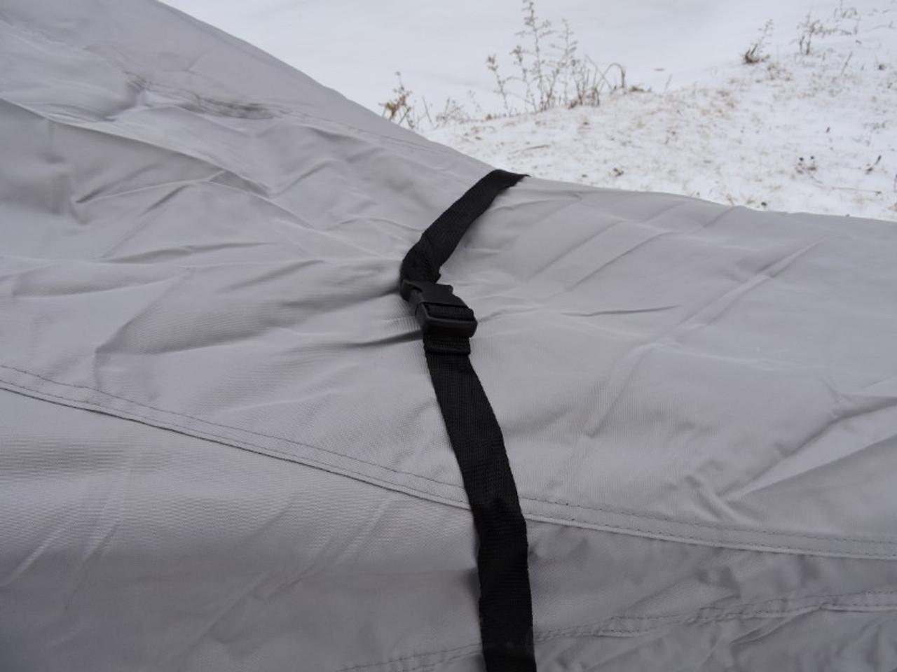 Venture snowmobile cover center strap
