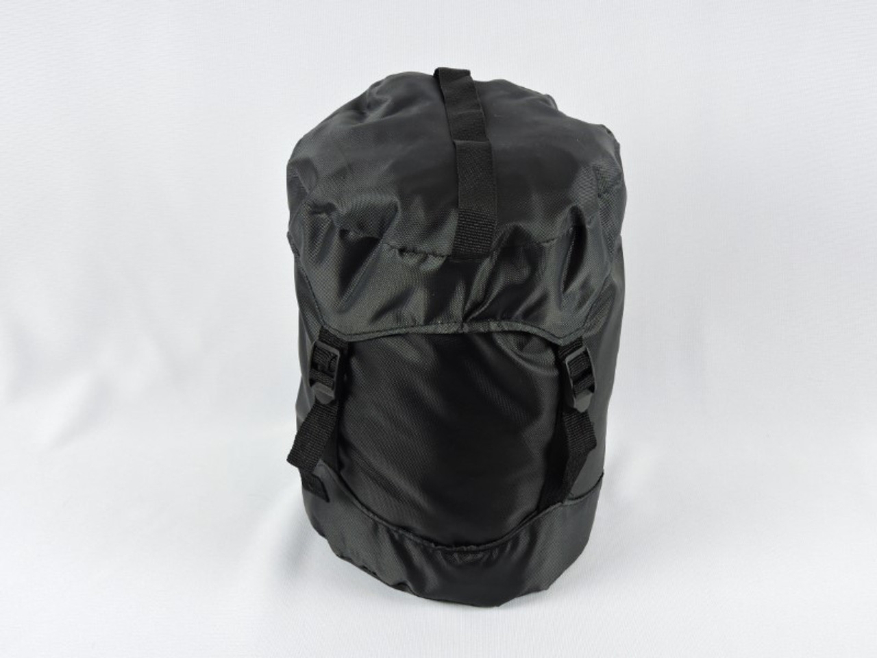 Handy and durable compression bag for compact storage.