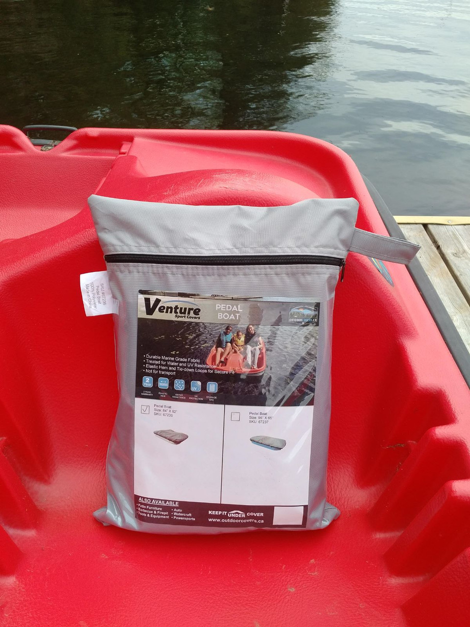 Venture Pedal Boat cover handy storage bag