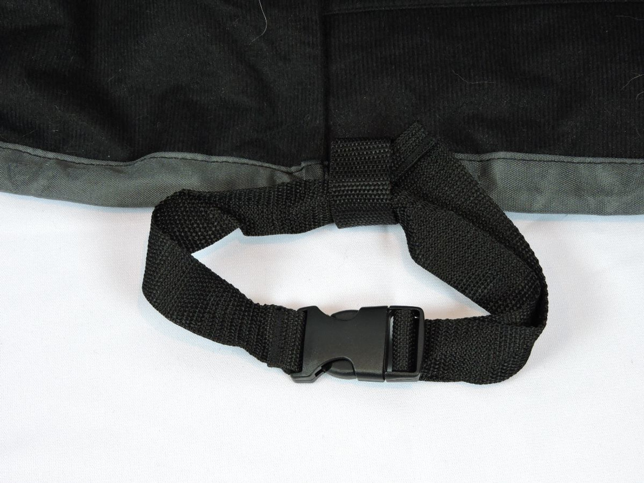 Straps with buckles to tie to furniture legs