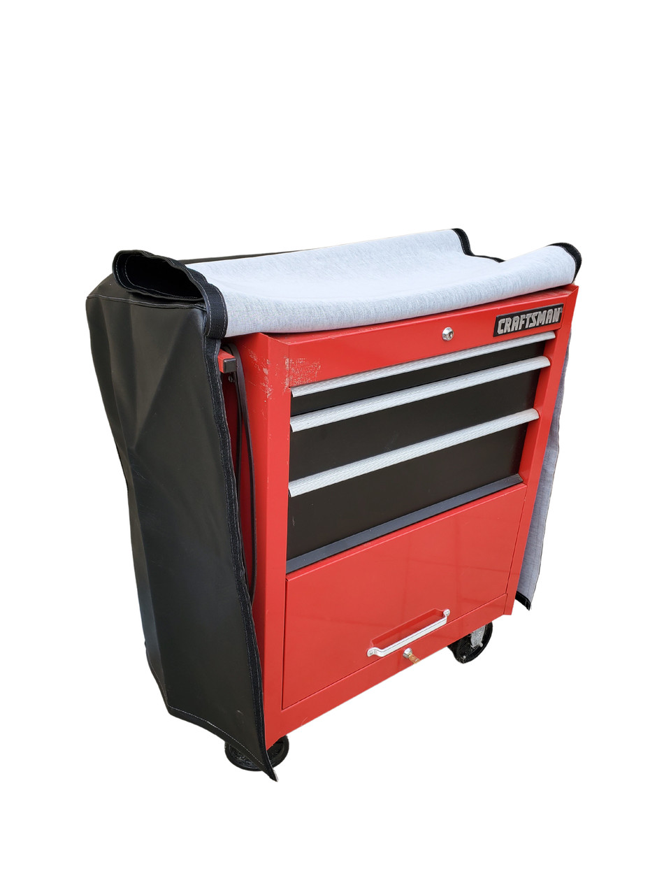 Armadillo Winterlux custom tool box cover velcro opening