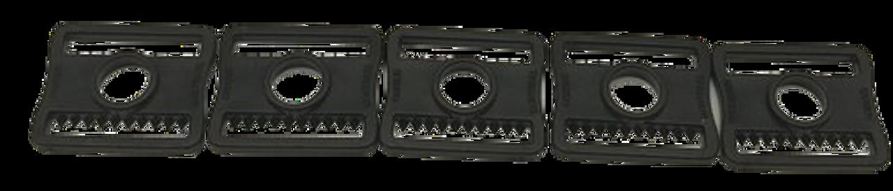 Goalie Mask Plastic Slider Clips - Black