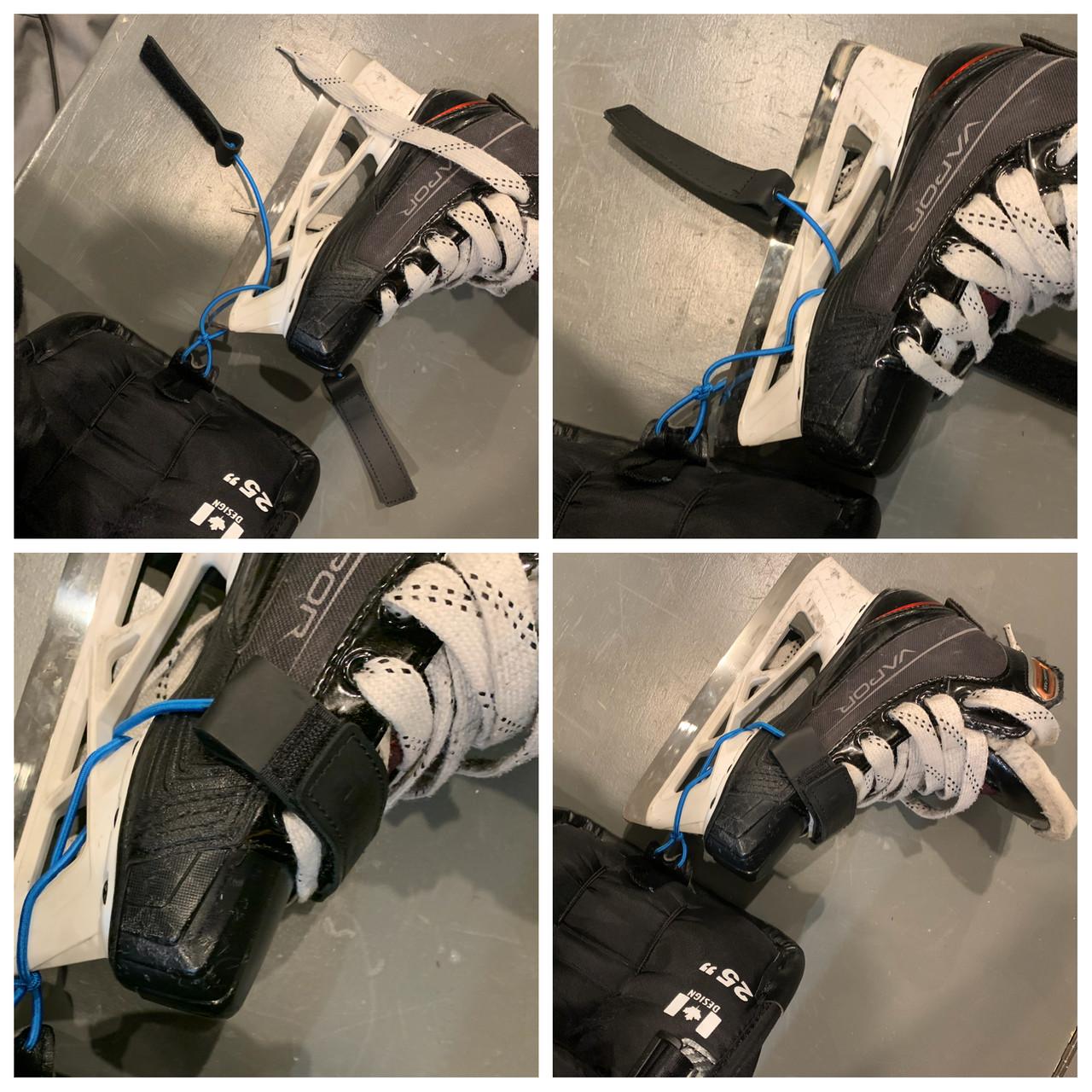 ECOproTIES Real Leather Goalie Leg Pad Toe Ties