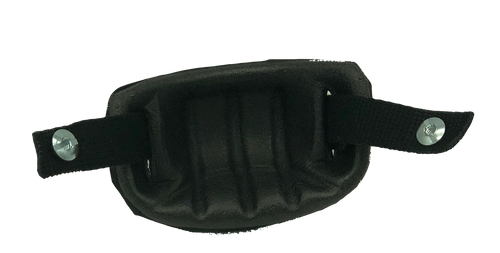 Goalie Mask Chin Cup With Strap - Black