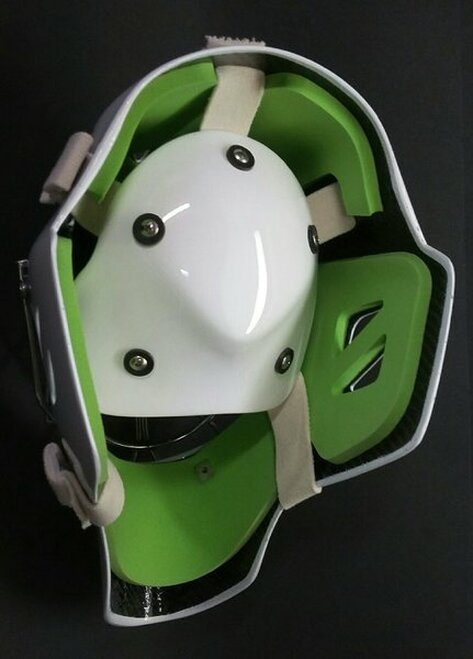 OTNY Goalie Mask Replacement Backplate Straps - White