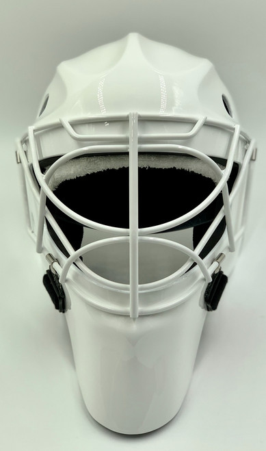 OTNY Deco Pro Custom Goalie Mask  with Non-Certified Double Bar Cat-Eye Cage - White
