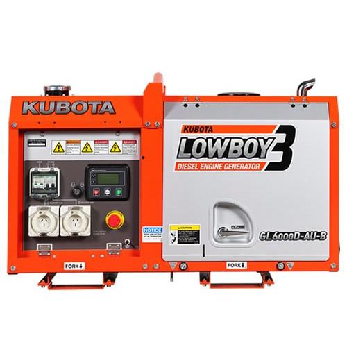 Kubota GL6000D (6 0KVA) Silenced Diesel Generator