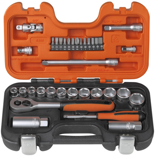 Socket Set 34Pce Bahco