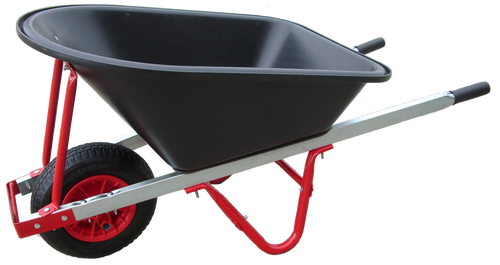 Barrow Poly Black Tray/Red Frame Std Wheel* WBB8612C