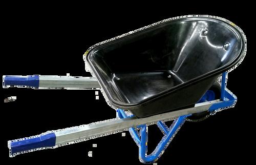 Barrow Poly Black Tray/Blue Frame Std Wheel* WBP600P 4.00