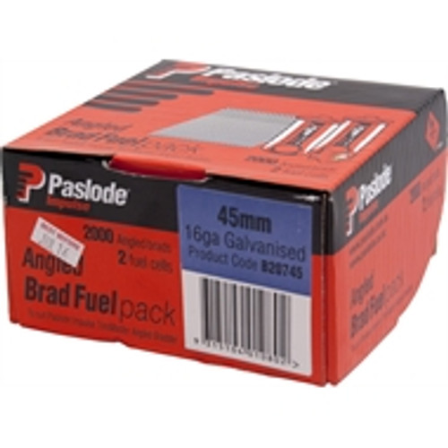 Paslode45mm Angle Gas Galv Fixing Nails 2,000