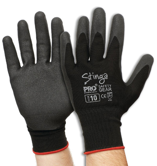 Glove PVC/Nylon Stinga Size 8