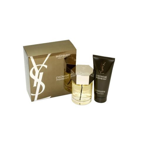 YSL L'HOMME 2 PCS SET: 3.4 EAU DE TOILETTE SPRAY + 3.4 SHOWER GEL (TRAVEL SET)