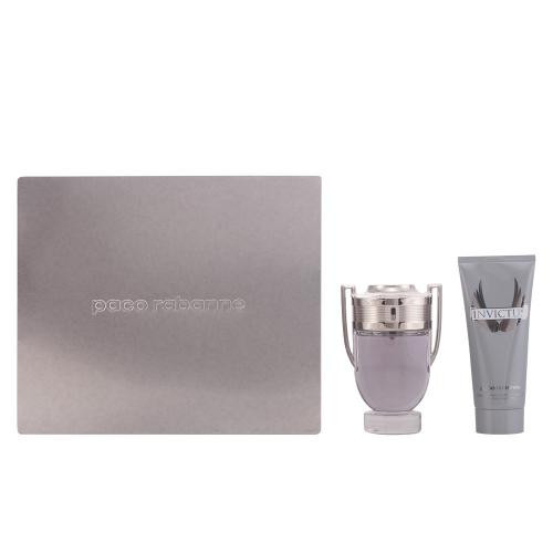 PACO INVICTUS 2 PCS SET: 3.4 EAU DE TOILETTE SPRAY + 3.4 SHAMPOO (METAL BOX)