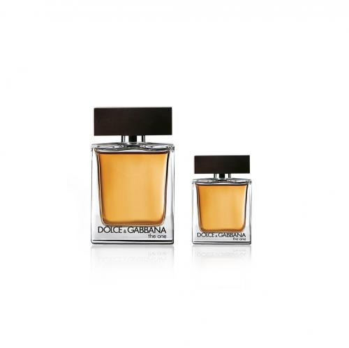 DOLCE & GABBANA THE ONE 2 PCS SET FOR MEN: 3.4 EAU DE TOILETTE + 1 OZ EAU DE TOILETTE SPRAY (HARD BOX)