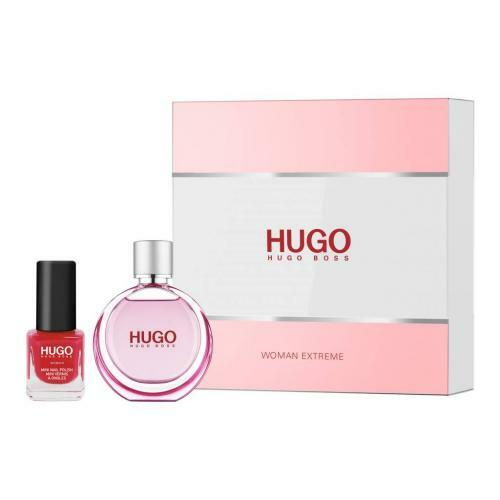 HUGO WOMAN EXTREME 2 PCS SET: 1 OZ EAU DE PARFUM SPRAY + 4.5 ML NAIL POLISH (HARD BOX)