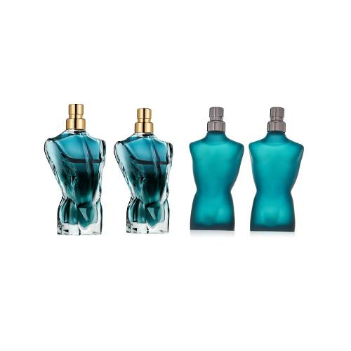 JEAN PAUL GAULTIER 4 PCS MINI SET FOR MEN: 2 X LE MALE 7 ML EAU DE TOILETTE + 2 X LE BEAU 7 ML EAU DE TOILETTE