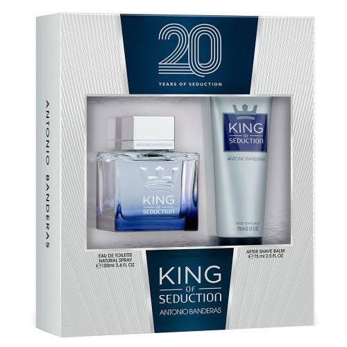 ANTONIO BANDERAS KING SEDUCTION 2 PCS SET: 3.4 EAU DE TOILETTE SPRAY + 2.5 AFTER SHAVE BALM (WINDOW BOX)