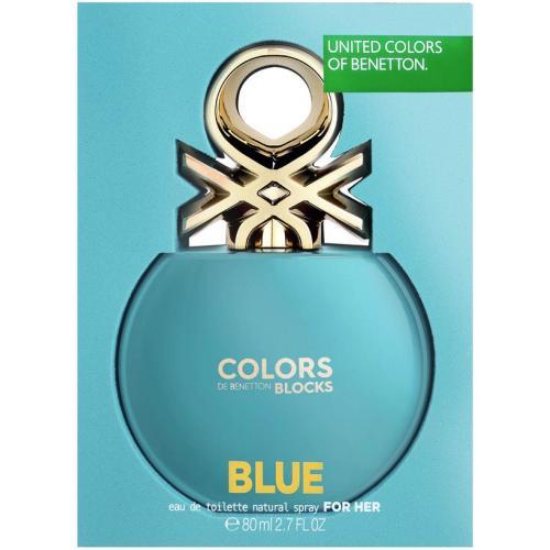 BENETTON COLORS BLOCKS BLUE 2.7 EAU DE TOILETTE SPRAY FOR WOMEN