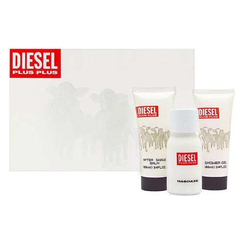 DIESEL PLUS PLUS 3 PCS SET FOR MEN: 2.5 EAU DE TOILETTE SPRAY + 3.4 SHOWER GEL + 3.4 AFTER SHAVE BALM (HARD BOX)