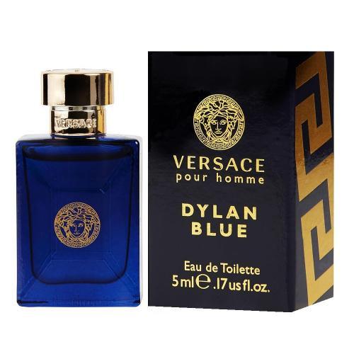 Versace Dylan Blue Mini Eau de Toilette Splash for Men, 0.17 Ounce