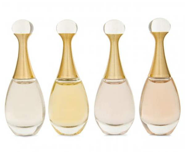 J'ADORE 4 PCS MINI SET: J'ADORE L'ABSOLU 5 ML EAU DE PARFUM+ J'ADORE 5 ML EAU DE PARFUM+ J'ADORE 5 ML EAU DE TOILETTE + J'ADORE IN JOY 5 ML EAU DE TOILETTE