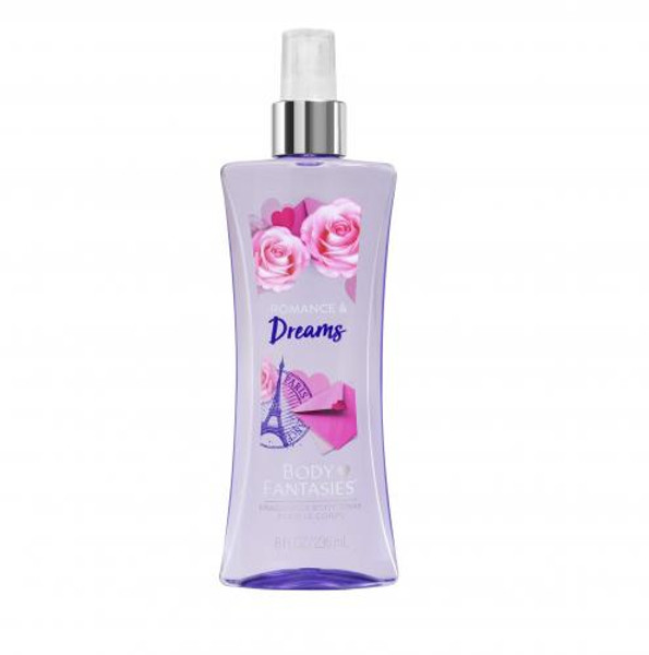 BODY FANTASIES ROMANCE & DREAMS 8 OZ FRAGRANCE BODY SPRAY