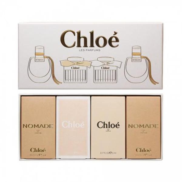 CHLOE 4 PCS MINI SET INDIVIDUALLY BOXED: 2*NOMADE 5 ML EAU DE PARFUM + CHLOE 5 ML EAU DE TOILETTE + CHLOE 5 ML EAU DE PARFUM
