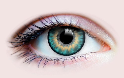 Sunrise Turquoise Cosmetic Contacts