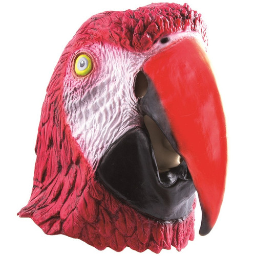 Latex Red Parrot Mask