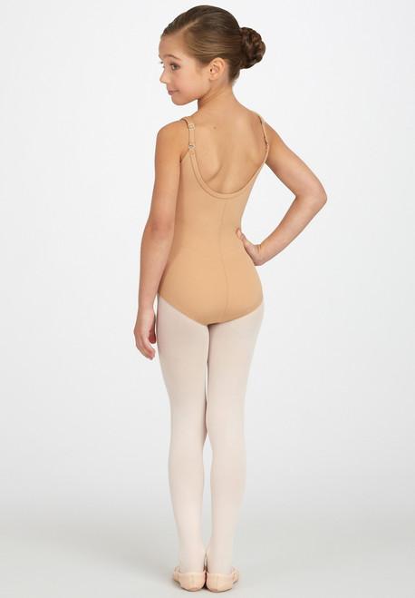Capezio Camisole Bodysuit, shown in Nude.