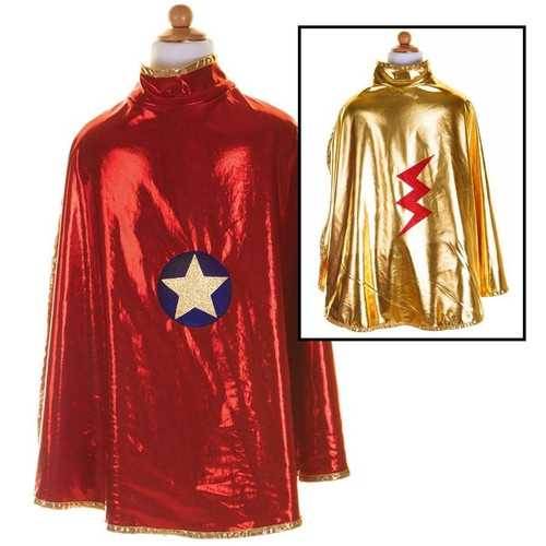 Red and Gold Reversible Superhero Cape