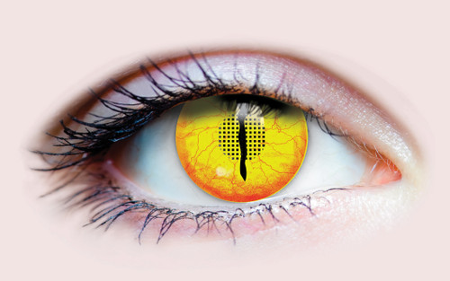 Yellow Jurassic Costume Contacts
