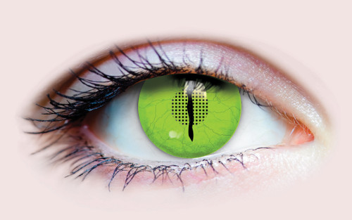 Green Jurassic Costume Contacts