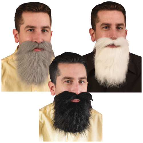 Mustache & Beard - White