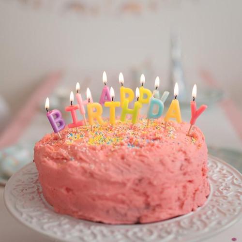 Happy Birthday Rainbow Candles