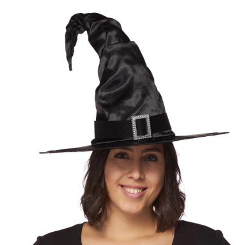 Satin Witch Hat with Buckle