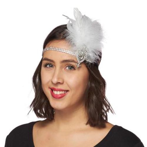 Pearly Diamond Flapper Headband