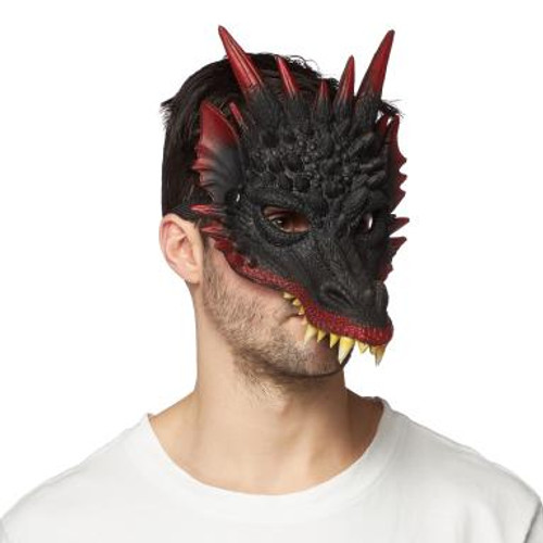 Supersoft Red and Black Dragon Mask