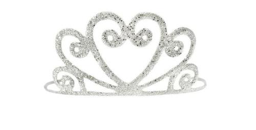 Silver Glitter Tiara
