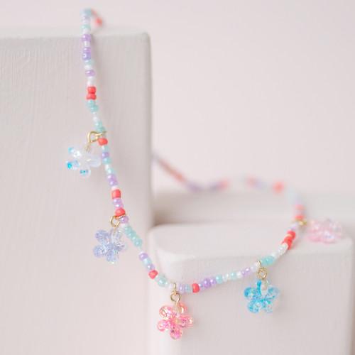 Shimmer Flower Necklace