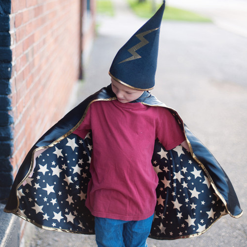 Reversible Wizard Cape and Hat  Set 4-6