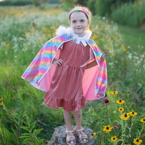 Rainbow Princess Hooded Cape