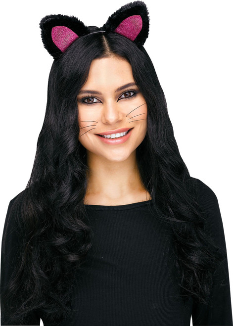 Black and Pink Cat Ears