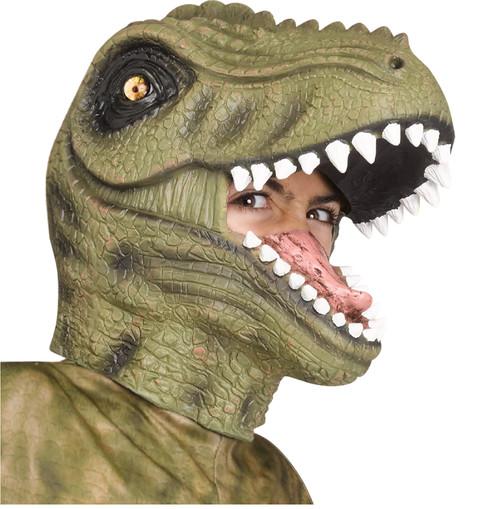 Green T-Rex Latex Mask