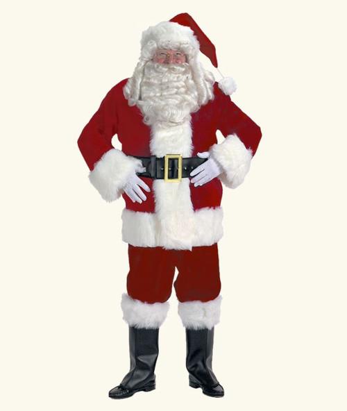 Rental Quality Velveteen Santa Suit sz 42-48