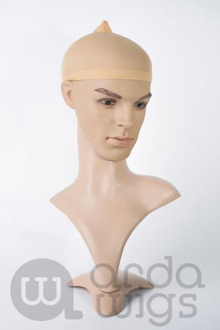 Beige Nylon Wig Cap 2pack